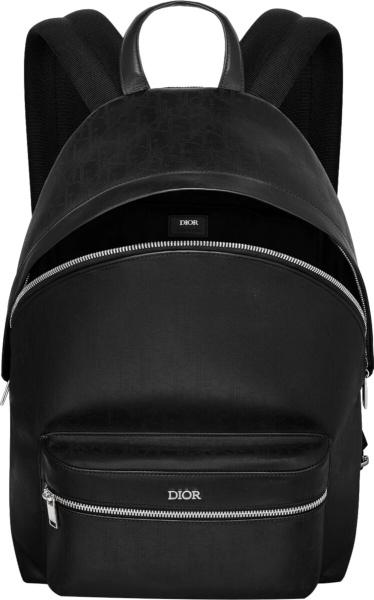Dior Black Galaxy Oblique Rider Backpack