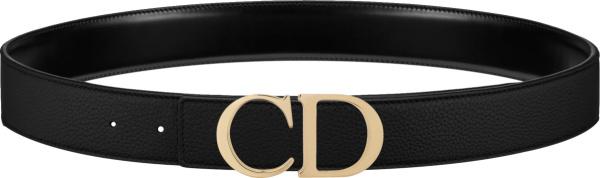 Dior Black Leahter And Gold Tone Cd Buckle Belt 4900ormet H00k