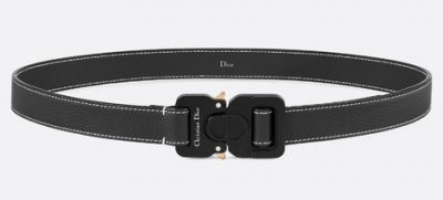 Dior Black Leather Belt With Detail Stitching Worn By Offset Instagram Post