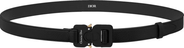 Dior Black Leather Cobra Buckle Belt 4350anymj H00n