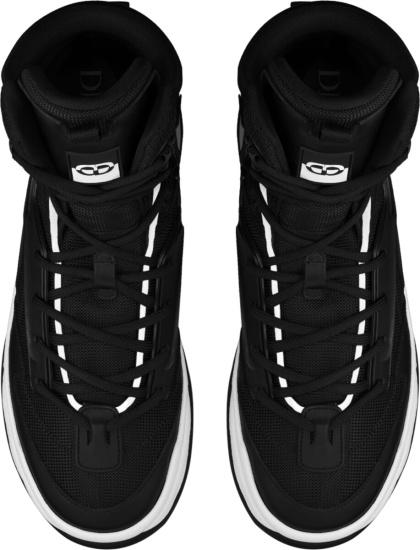 Dior Black Leather Mesh Oblique Ankle Boots