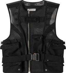 Black Mesh Utility Vest