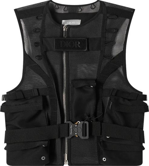 Dior Black Mesh Tactical Vest