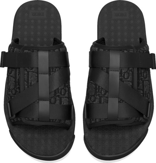 Dior Black Oblique Alpha Sandals