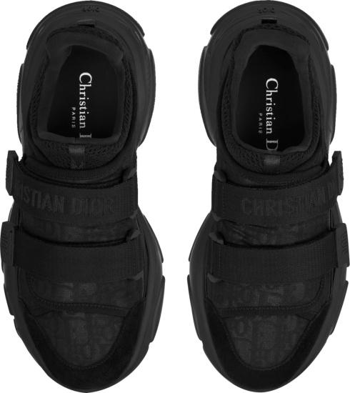 Dior Black Oblique D Wander Strap Sneakers