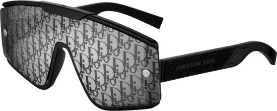 Dior Black Oblique Shield Sunglasses