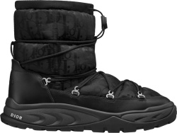 Dior Black Oblique Short Sneow Boots 3bo267zlp H969