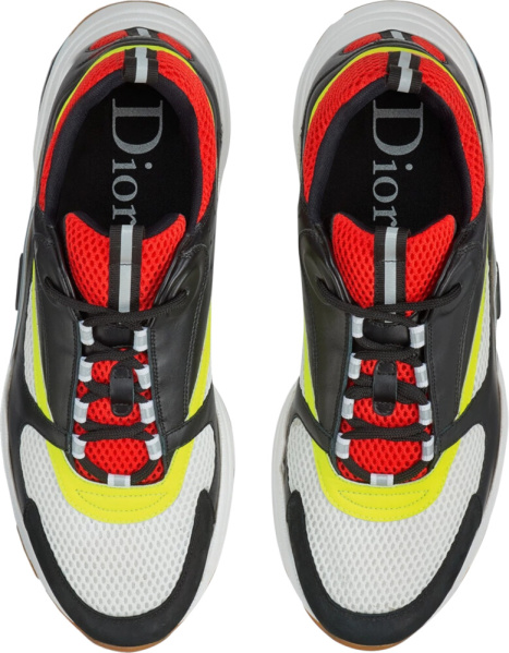 Dior Black Red Yellow Canvas And Calkskin