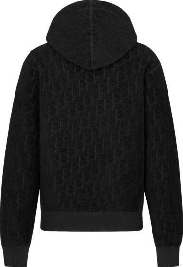 Dior Black Terry Oblique Hoodie