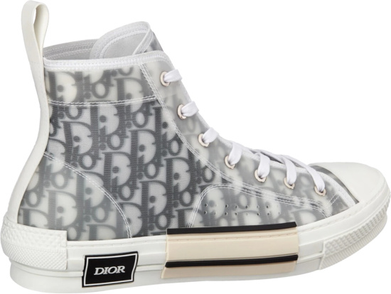 Dior Black White B23 High Top Sneakers