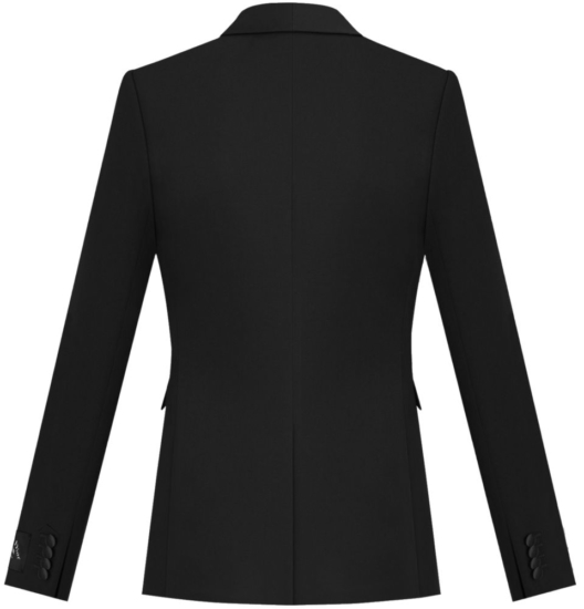 Dior Black Wool Jacket With Satin Insert