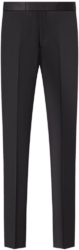 Dior Black Wool Trousers With Satin Inserts Worn By Offset