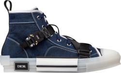 Dior Blue Cobra Buckle B23 High Top Sneakers
