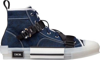 Dior Blue Cobra Buckle B23 High Top Sneakers