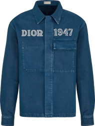 Dior Blue Denim Dior 1947 Shirt