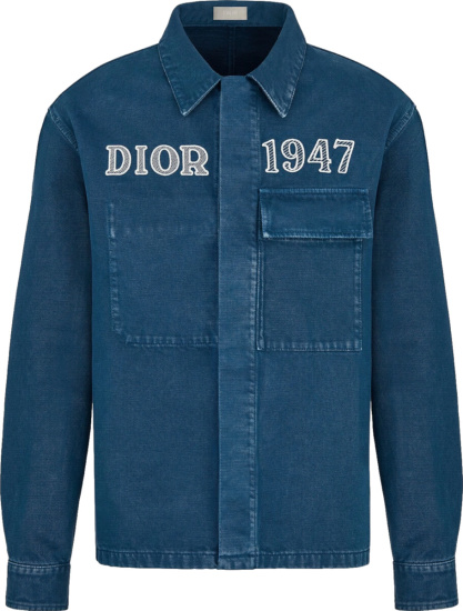 Dior Blue Denim Dior 1947 Shirt