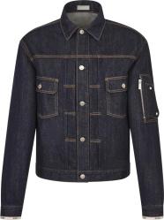 Dior Blue Denim Mkii Jacket With Saddle Bag