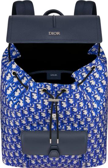 Dior Blue Oblique Motion Backpack