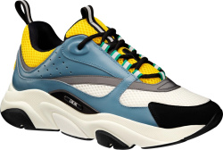 Blue & Yellow 'B22' Sneakers