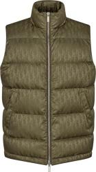 Brown Oblique Puffer Vest