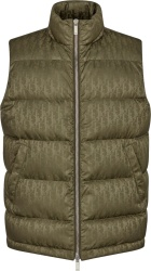 Beige Oblique Puffer Vest