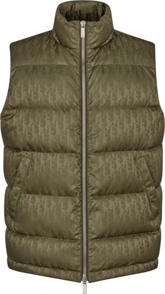 Dior Brown Puffer Vest