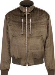 Dior Brown Velvet Bomber Jacket