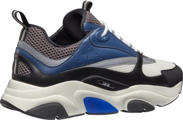 Dior Dark Grey And Navy B22 Sneakers