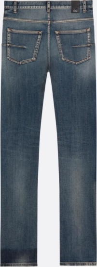 Dior Faded Long Patch Jeans