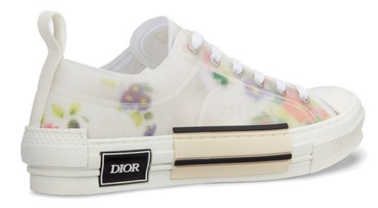 Dior Floral Low Top Technical Canvas Sneakers Worn By Lil Baby