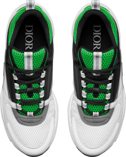 Dior Green Black White And Grey B22 Sneakers