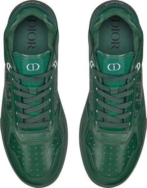 Dior Green Galaxy Oblique Low Top B27 Sneakers
