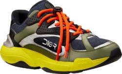 Green, Blue & Yellow 'B24' Sneakers