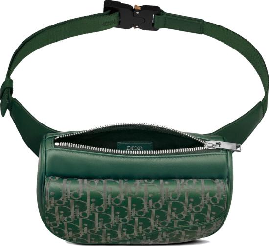 Dior Green Obliuqe World Tour Belt Bag