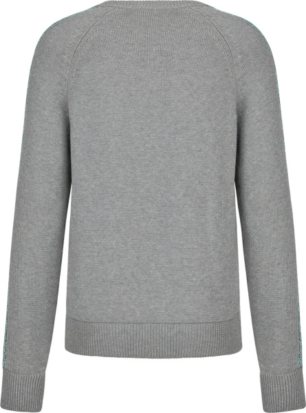 Dior Grey And Light Blue Oblique Side Stripe Sweater