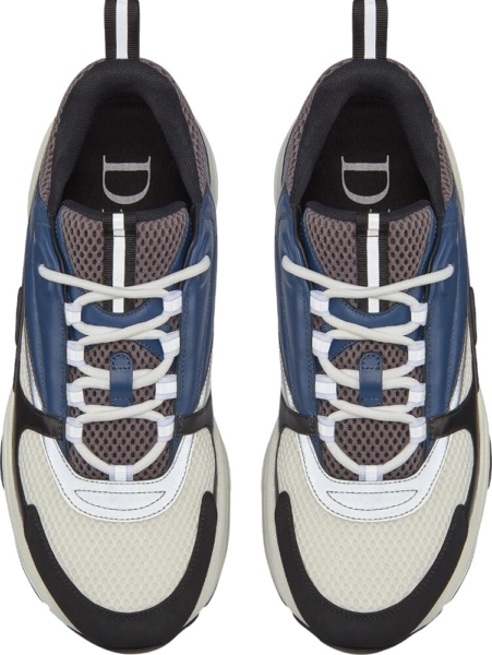 Dior Grey And Navy B22 Sneakers
