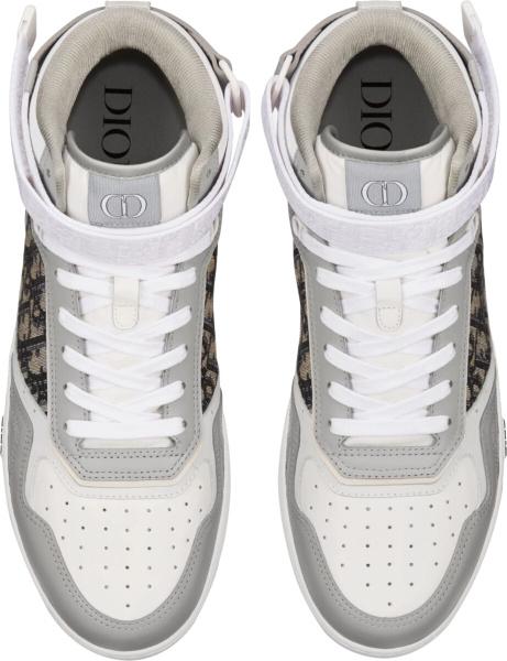 Dior Grey High Top B27 Sneakers