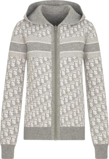 Dior Grey Reversible Oblique Zip Hoodie
