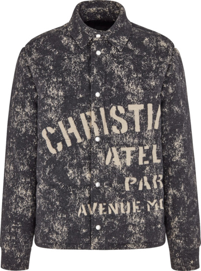 Dior Grey Speckled Christian Dior Altier Padded Overshirt