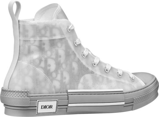 Dior Grey White Oblique B23 High Tops
