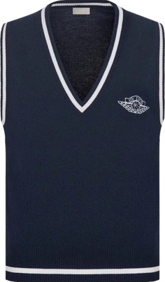 Dior Jordan Navy Sweater Vest
