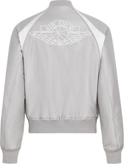 Dior Jordan Silver Bomber Air Dior Jacket