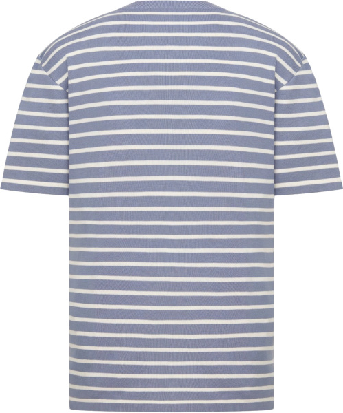 Dior Light Blue And White Striped T Shirt
