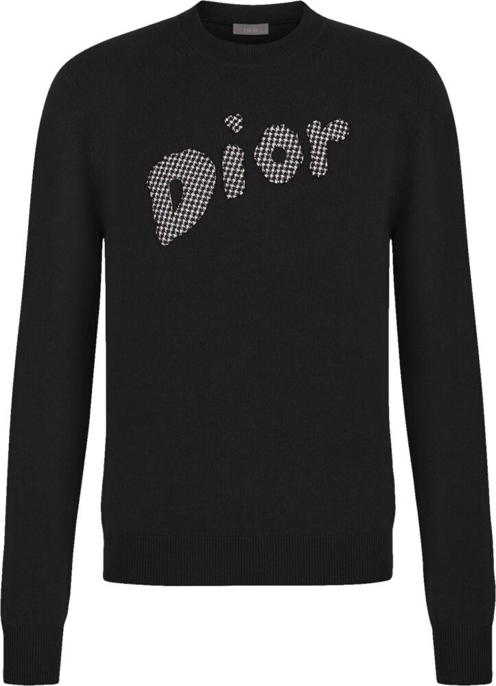 Dior Logo Patch Black Wool Sweater