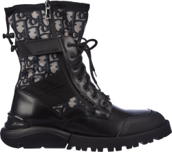Dior Men Black Oblique Boots
