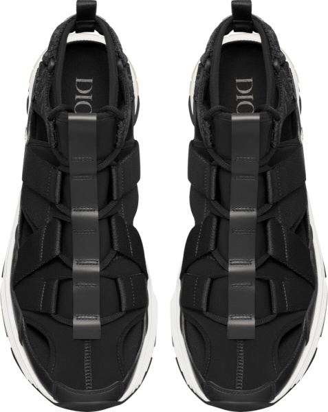 Dior Men Black Open Cd1 Sneakers