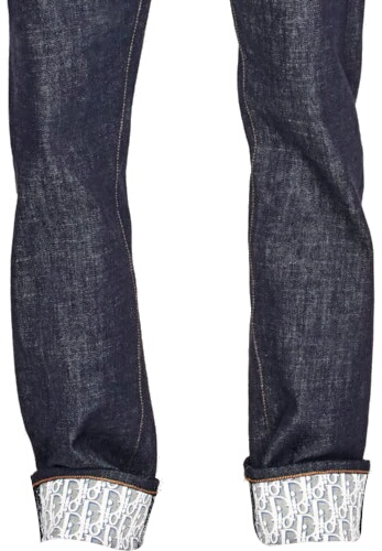Dior Monogram Motif Lined Jeans