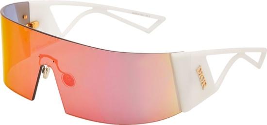 Dior Multicolor Mirrored Shield Sunglasses