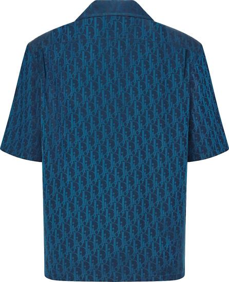 Dior Navy And Blue Oblique Shirt