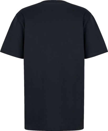 Dior Navy And White Logo Patch T Shirt